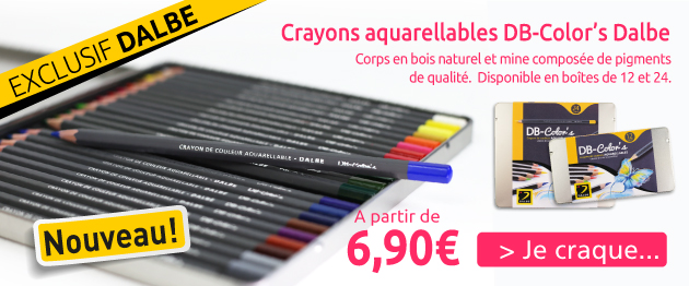crayons aquarellables db-colors dalbe